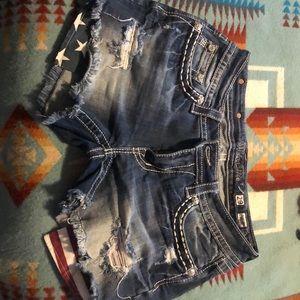 Miss Me American Flag Denim Shorts